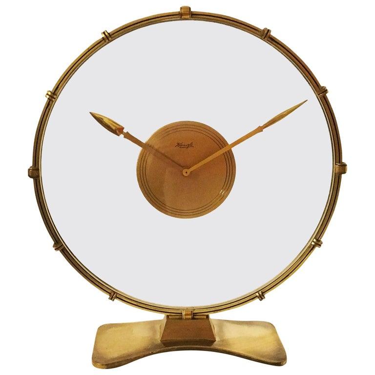 Art Deco Table Clock by Heinrich Möller for Kienzle For Sale