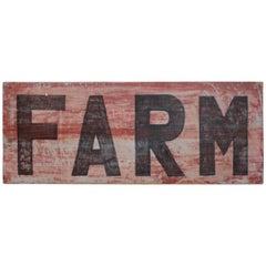 19th Century Original Hand-Painted Farm Sign