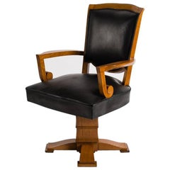 Maison Leleu, Swivel Desk Chair, France, C. 1946