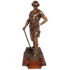 19th Century French Bronze Statue, Pax et Labor
