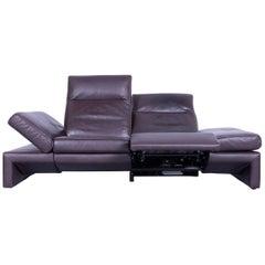 Original Mondo Designer Sofa Brown Three-Seat Couch Modern Recliner Function