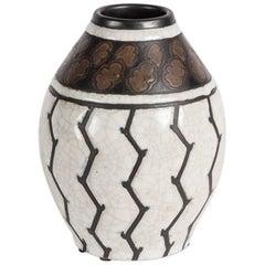 """Charles Catteau, """"Cactus"""" Fine Art Deco Vase, Belgium, 1924"""