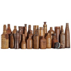 Collection of Wooden Bottle Molds from the John Lumb and Co. Glassworks
