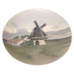 Bing & Grondahl Art Nouveau Wall Plate with Windmill #4735/357-20