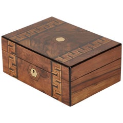 Inlaid Walnut Box from Late 19th Century England