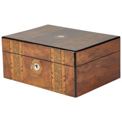 1880s English Tunbridge Inlaid Walnut Box