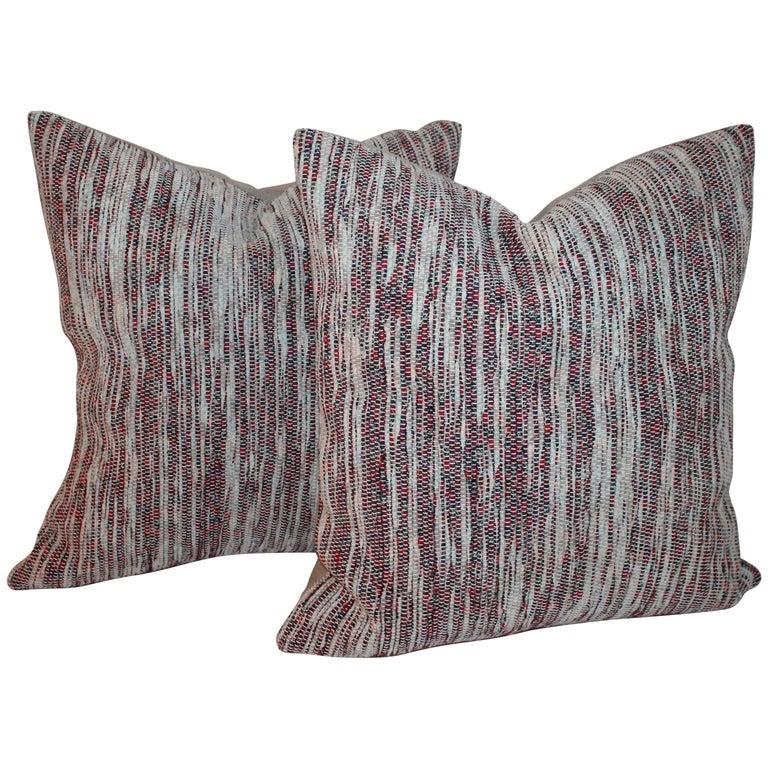 Pair of Rag Rug Pillows