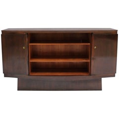 Fine French Art Deco Walnut Sideboard by Maxime Old