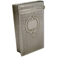 Antique French Sterling Silver Match Striker or Vesta Book, circa 1900