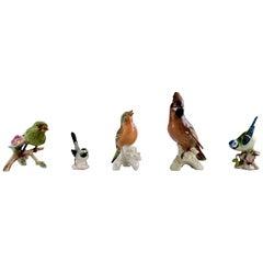 Goebel, Germany, Five Birds, Hand-Painted