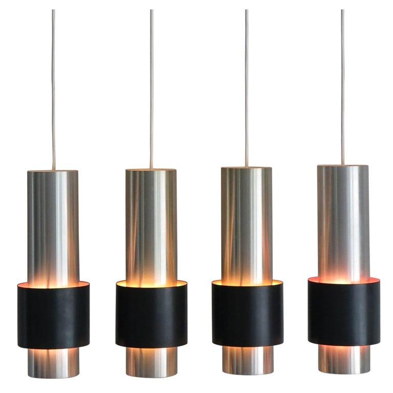 """1960s Jo Hammerborg Scandinavian Metal Pendant Lamp """"Zenith"""" for Fog & Mørup"""