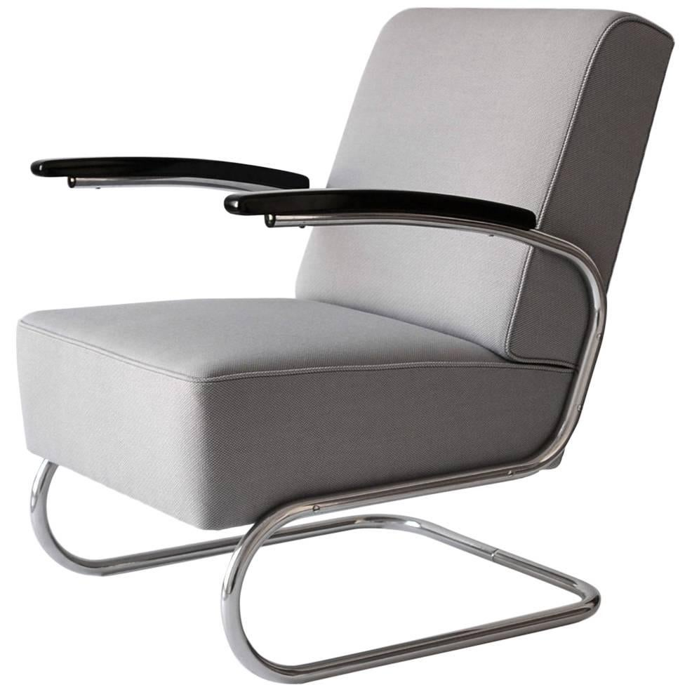 Thonet S 411 Tubular Steel Cantilever Armchair, Germany, circa 1935