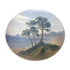 Bing & Grondahl Art Nouveau Wall Plate with Beach Motif #8142/357-20