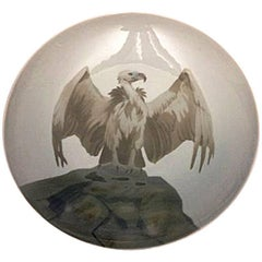 Bing & Grondahl Art Nouveau Wall Plate with Vulture #4408/357-20