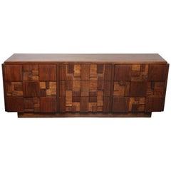 Brutalist Lane Walnut Dresser in the Manner of Paul Evans