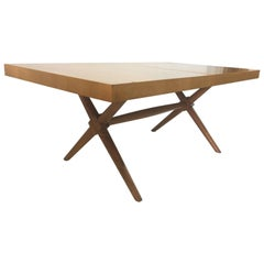 Original Vintage T.H. Robsjohn-Gibbings Dining Table with Leaf
