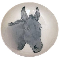 Bing & Grondahl Art Nouveau Wall Plate with Donkey #F/4
