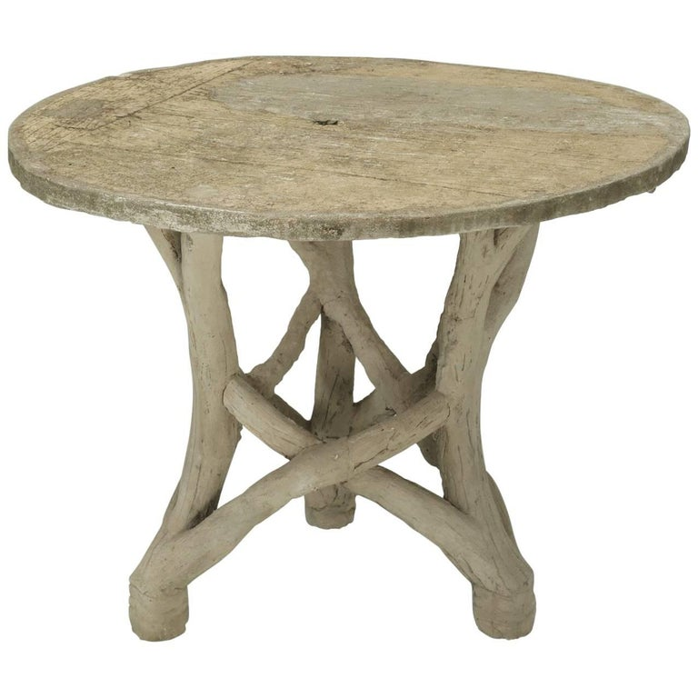 Faux Bois Table Attributed to Edouard Redont, circa 1900