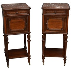 Pair of Superb Quality Rosewood Bedside Cabinets by Maison Krieger, Paris