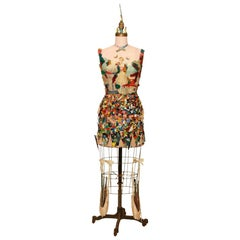 Extraordinary Mixed-Media Vintage Dress form Sculpture