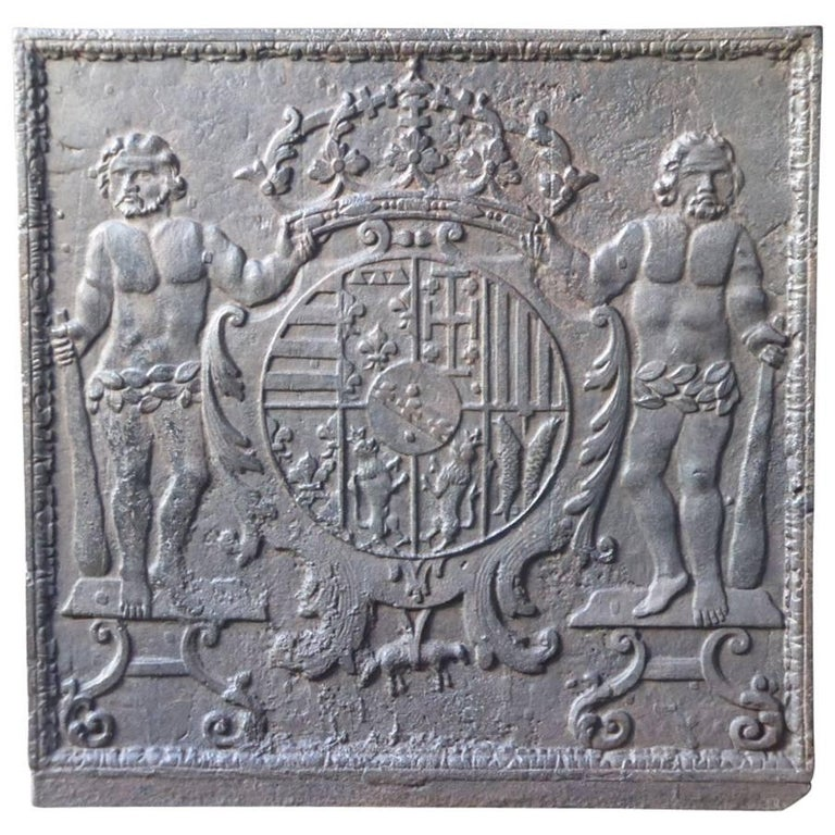 17th Century French 'Arms of Lorraine' Fireback