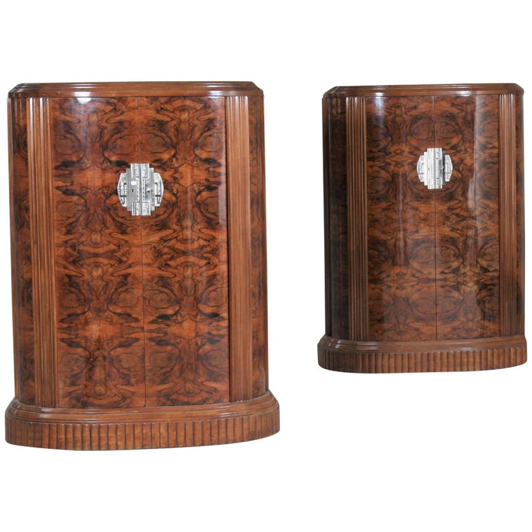 Rare Pair of Art Deco Wall Furniture by Clement Goyeneche, 1893 -1984 For Sale
