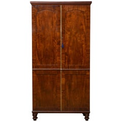 William iv Mahogany Hall Cupboard / Hall Wardrobe
