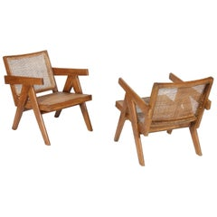 "Pierre Jeanneret Set of two ""Easy Armchairs"""