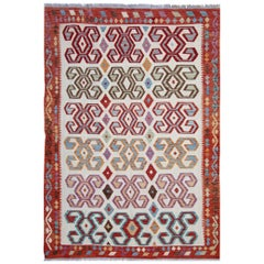 Oriental Rug Kilim Traditional Rugs Multi colored Carpet from Afghanistan