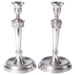 Empire Silver Candlesticks, France, 1800