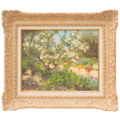Apple Blossom in Sunlight, Original Oil on Canvas Painting