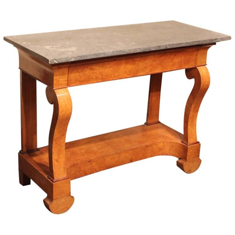 Stylish 19th Century French Ash Console Table