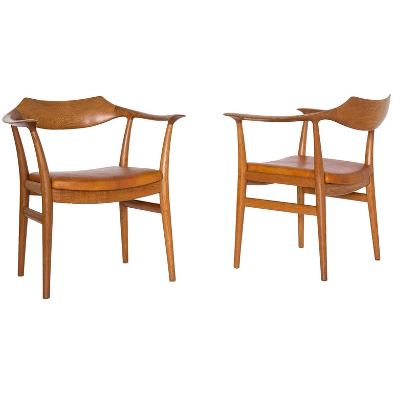Pair of Sigurd Resell Armchairs for Niels Vodder, 1959