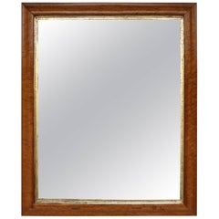 Late Federal Birdseye Maple Mirror with Giltwood Slip