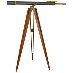 Antique Telescope on Tripod, Original Case, Refractor, circa 1920-40