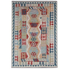Oriental Rug Handmade Carpet Kilim Rugs, Multicolored Traditional Rugs for Sale