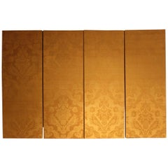 Set of Four 19th Century Silk Damask Panels