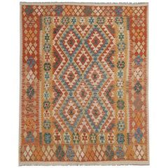 Kilim Rugs Primitive Multicolored Traditional Rugs Carpet from Afghanistan