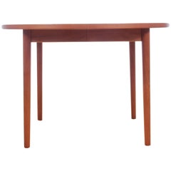 Mid-Century Modern Scandinavian Round Dining Table in Teak by Nils Jonsson