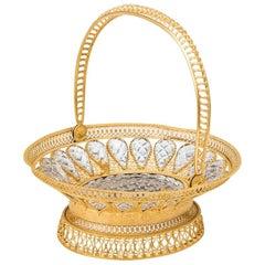 Exquisit Ormolu and Cut Glass Palais Royal Basket
