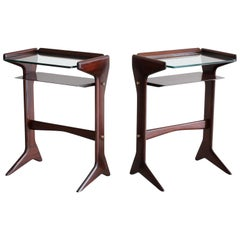 Italian Mahogany Bed Tables
