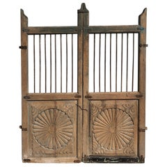 Set of 19th Century Teak Indian Garden Gates