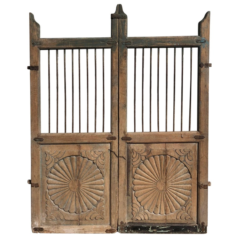 Set of 19th Century Teak Indian Garden Gates For Sale