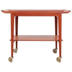 Mid-Century Modern Scandinavian Serving Table in Teak by Peter Hvidt