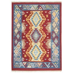 Handmade Rug Oriental Kilim Rugs, Traditional Rugs, Carpet from India