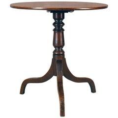 Antique Side Table, Circular, Georgian, Mahogany, Tea, English, circa 1800