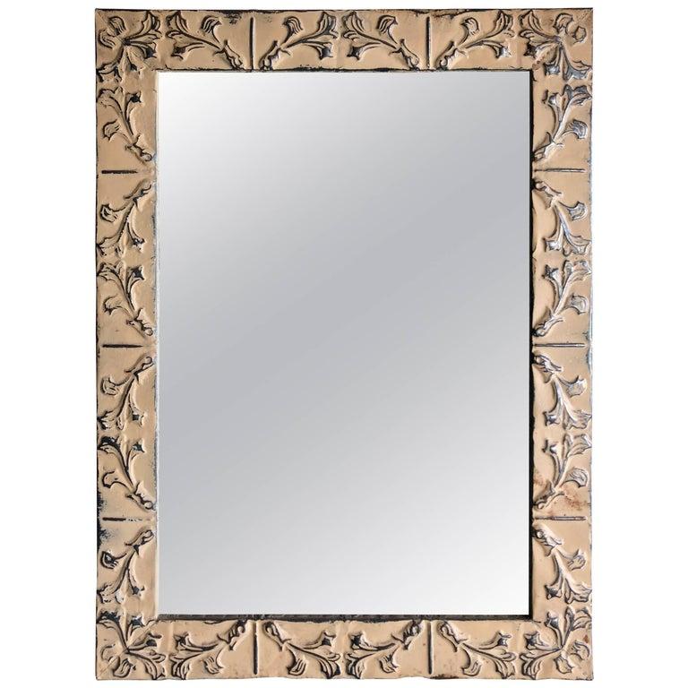 Tin Ceiling Tile Framed Mirror