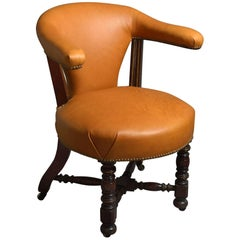 Late 19th Century Victorian Period Reading Armchair