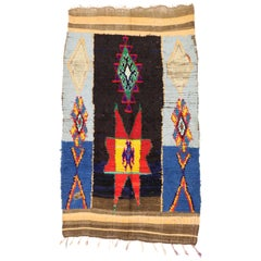 Vintage Moroccan Rug with Modern Tribal Style