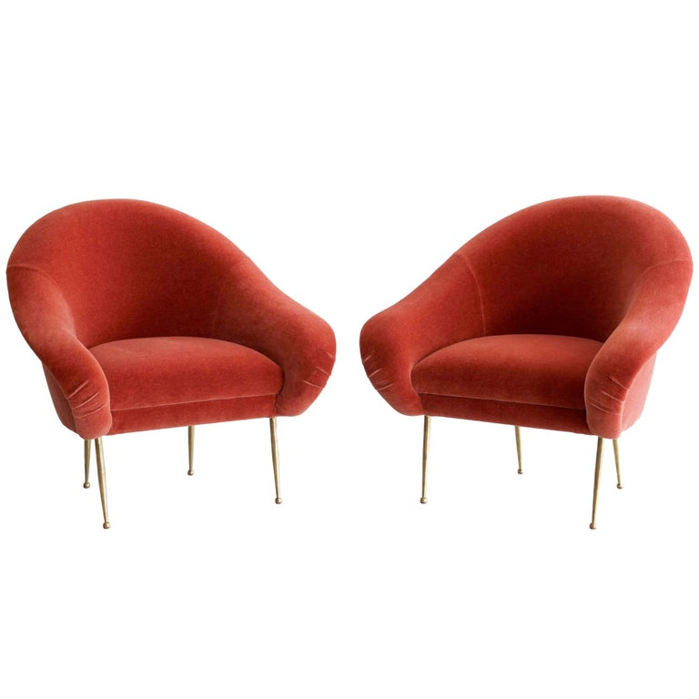 Pair of Salon Slipper Chairs For Sale